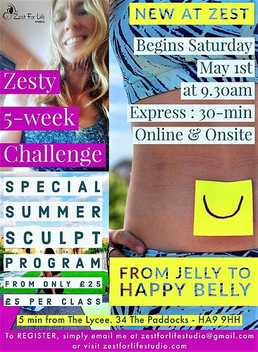 Zesty Happy Belly 5-week challenge May 20